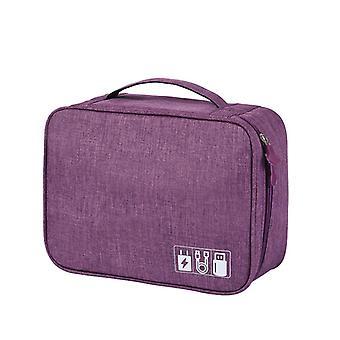 Electronics Bag, Purple