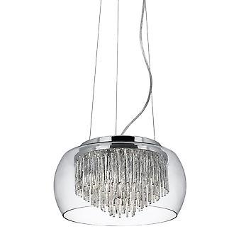 Curva Chrom und Glas Anhänger - Searchlight 3624-4CC