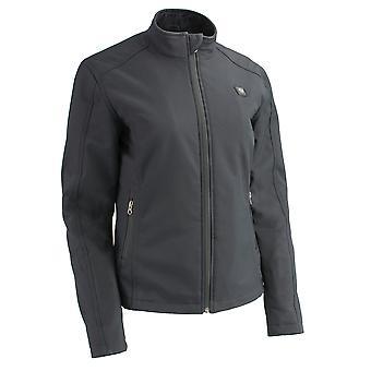 Femmes fermeture éclair avant chauffée Soft Shell Jacket w/front & Back éléments chauffants
