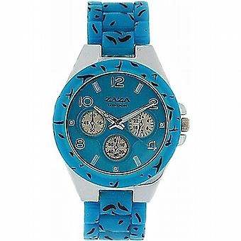Zaza Londra Chrono-Look leopardo Design Turchese Strap Ladies Watch PL41