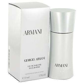Armani Code Ice by Giorgio Armani Eau De Toilette Spray 1.7 oz / 50 ml (Men)