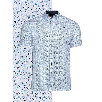 Tissus Liberty Floral impression chemise à manches courtes - blanc