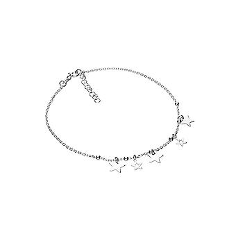 Eternity Sterling Silver 5 Star Anklet