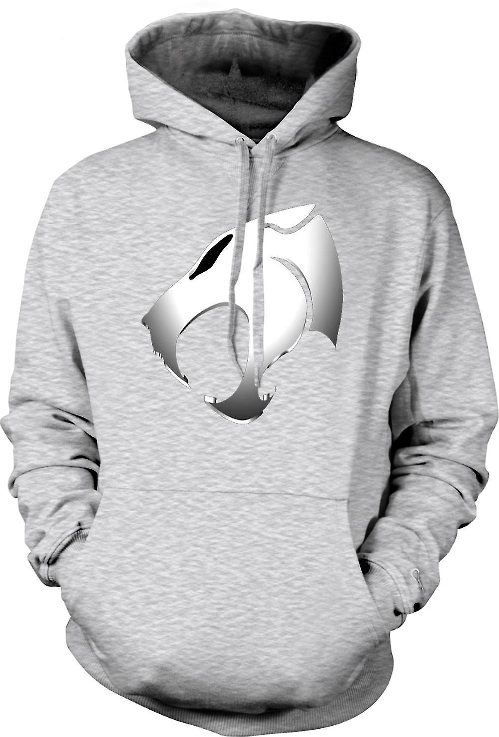 Mens hettegenser - Thundercats - metallisk Logo