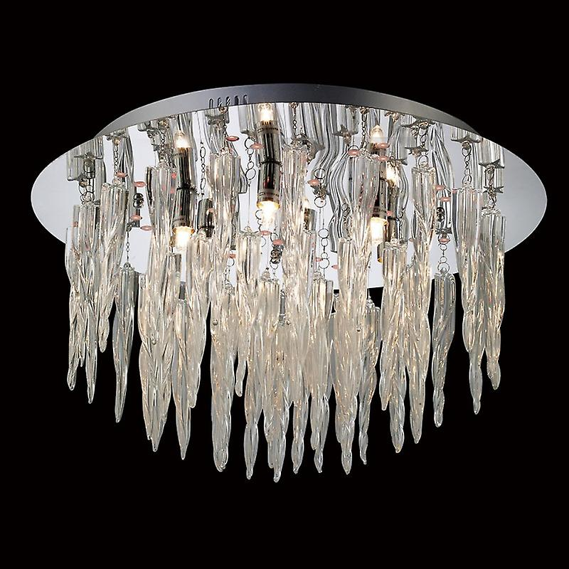Tropez Ceiling 6 Light With Rgb Leds And Remote Control Polished Chrome glass