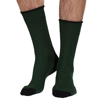 The Purist mens luxury 100% cotton boot sock in bottle green | By Corgi