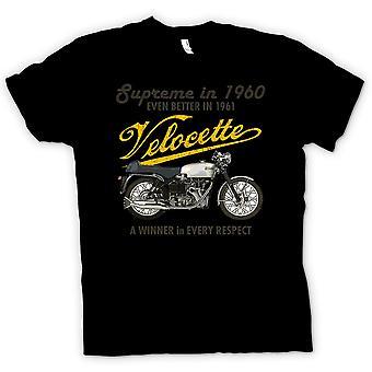 Mens T-shirt - Velocette 61 Supreme - Bike