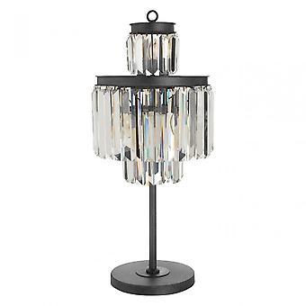Premier Home Art Deco Table Lamp, Crystal