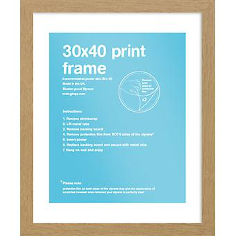 Eton eiken Frame 30x40cm Poster / Frame afdrukken