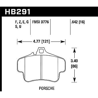 Hawk prestaties HB291G. 642 DTC-60