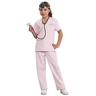Veterinarian Animal Pet Doctor Uniform Role Play Book Week Child Girls Costume