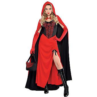 Femmes Riding Hood Enchantress Fancy Dress Costume