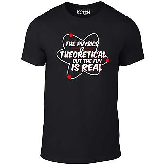 Men's the physics is theoretical t-shirt