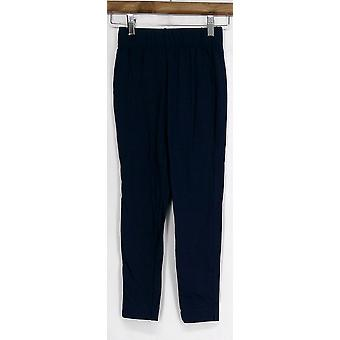 Kate et Mallory Leggings Stretch Knit Cropped Legging Blue Womens A408363