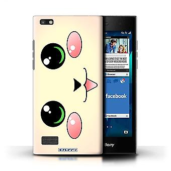 STUFF4 Case/Cover for Blackberry Leap/Cat/Kitten/Cute Kawaii