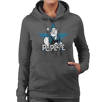 Popeye Comic Star Women's Hooded Sweatshirt