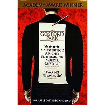 Gosford Park (yksipuolinen video) alkuperäinen video/DVD-mainos juliste