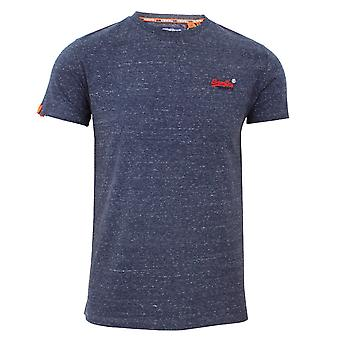 Superdry ol vintage embroidery men's creek navy heather t-shirt