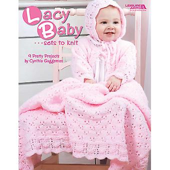 Leisure Arts Lacy Baby Sets To Knit La 4440