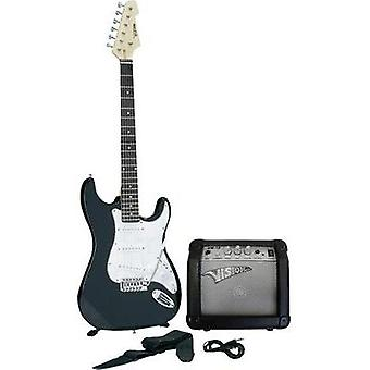 Electric guitar kit MSA Musikinstrumente Black incl. gig bag, incl. amplifier