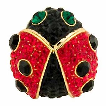 Butler  and  Wilson Red Crystal Ladybird Brooch