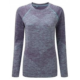 Space Dye Long Sleeve Tee Elderberry/Peppermint Marl Womens