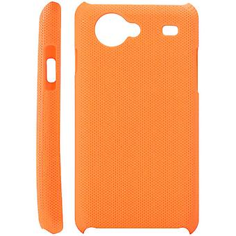 Dotted plastic cover for Samsung Galaxy S Advance i9070 (orange)