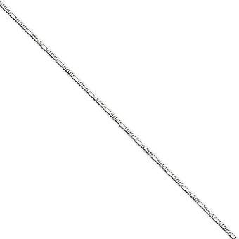 14 k wit goud 2,75 mm platte figaroketting ketting - kreeft-klauw - lengte: 16 tot 24