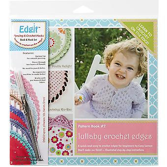 Edgit Piercing Crochet Hook & Book Set-Lullaby Crochet Edges EDGIT-E105