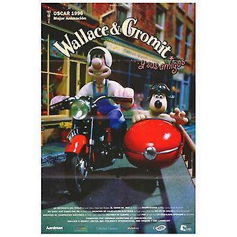 Wallace & Gromit Aardman Animation Film affiche en lettres moulées (27 x 40)