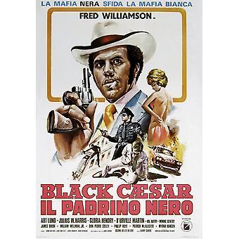 Black Caesar Italiaanse Poster Fred Williamson, 1973 film Poster Masterprint