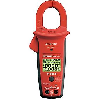 Current clamp, Handheld multimeter digital Benning CM 5-1 Calibrated to: Manufacturer standards CAT III 1000 V, CAT IV