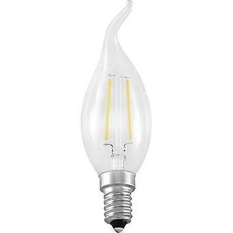 LED Segula 230 V E14 2 W = 25 W Warm white EEC: A++ Candle angular (Ø x L) 35 mm x 120 mm Filament 1 pc(s)