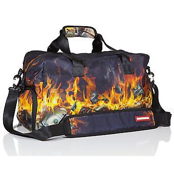 Sprayground Fire Money Duffel Bag