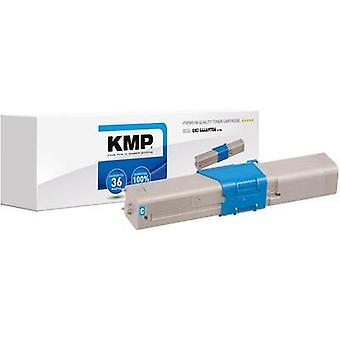 KMP Toner cartridge replaced OKI 44469706 Compatible Cyan 2000 pages O-T28
