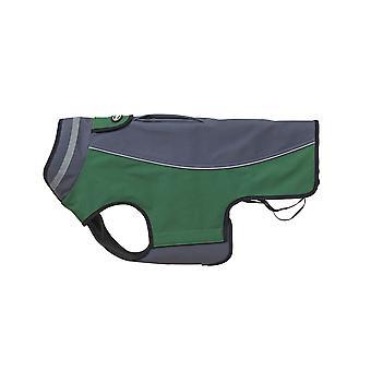 Buster Softshell Mantel stahlgrau/Artischocke grüne Mittel/groß