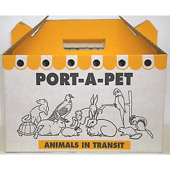Shaws Medium Port-a-pet Cardboard Carry Box Pk10 (Pack of 10)