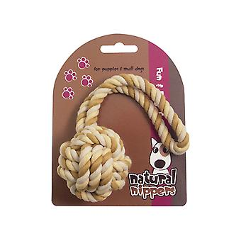 Natural Nippers Tuff Rope Ball (Pack of 3)