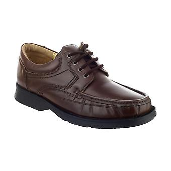 Amblers Angus Mens Shoes Leather PU Lace Up Fastening Male Footwear Boots