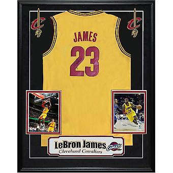 Lebron James Autographed Cavaliers Jersey Custom Framed with COA