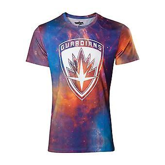 Guardians Vol 2 All-Over Galaxy T-Shirt - Multi-Colour XL Size (TS571037GOG-XL)