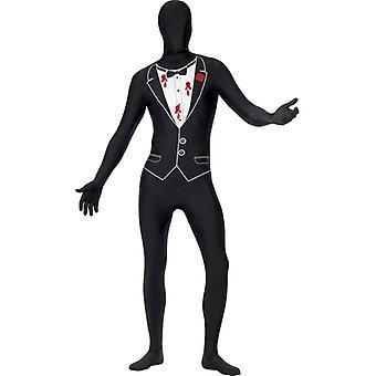 Second Skin Gangster Mafia Pate Kostüm Stretchanzug