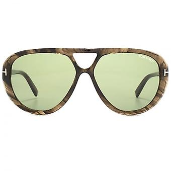 Tom Ford Marley Sunglasses In Grey Horn