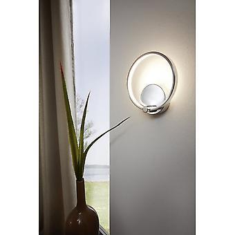 Eglo Lasana Modern Chrome LED Hoop Wall Sconce