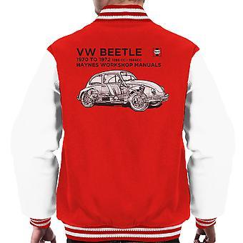 Chaqueta negra de Varsity de 70 a 72 del escarabajo VW Manual de taller Haynes