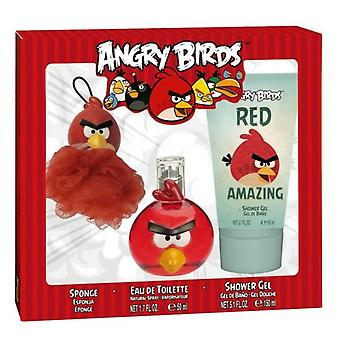 Angry Birds Red 50Ml Eau De Toilette Vapo. + Gel 150ml + Sponge (Kinderen , Parfumerie)