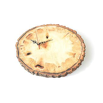 Wood wall clock tree disc made in Austria watch ash ash wood