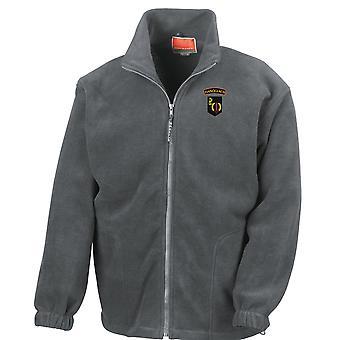 Irländska armén Ranger Wing ARW Fianoglach broderad Logo - Full Zip Fleece