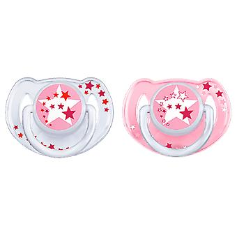 Avent Night Soothers for Girls 6 to 18 Months 2 pcs