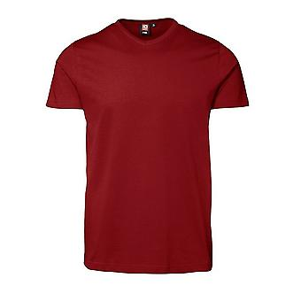 ID Mens T-Time Short Sleeve Fitted V-Neck Slimline T-Shirt